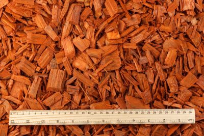 Colored wood chips mulch (20–40mm) – (ORANGE)