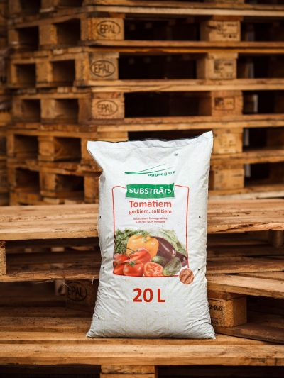 Substrate for vegetables